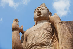 Free Top Part Of Avukana Statue Is Standing Statue Of Buddha. Sri Lan Royalty Free Stock Photography - 98979957