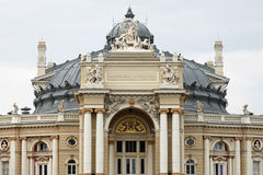 Opera house. Top part of Opera house in Odessa, Ukraine Royalty Free Stock Images