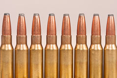 Top part of rifle bullets Royalty Free Stock Photos