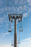 Top part of ski-lift support Stock Images