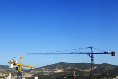 Rural Cranes & Factories Royalty Free Stock Photography