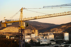 Rural Cranes & Factories Royalty Free Stock Image
