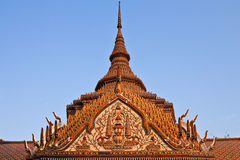 Top part of traditional Thai style architecture Royalty Free Stock Photo