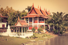 Top part of traditional Thai style architecture Stock Image