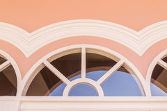 Top part of window on top of door of Chino-Portuguese architectural style Stock Photography
