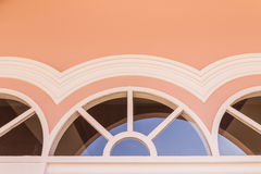 Top part of window on top of door of Chino-Portuguese architectural style Royalty Free Stock Photo
