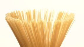 The top of pasta, on white, rotation, close up stock video footage