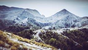 Top of a Peak within the Biokovo Mountains on the Way to the Sveti Jure in Makarska, Croatia stock photo