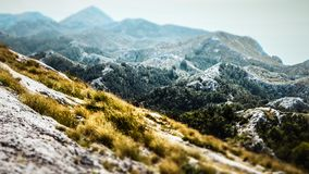 Top of a Peak within the Biokovo Mountains on the Way to the Sveti Jure in Makarska, Croatia stock images