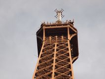 Top and peak of Eiffel Tower Royalty Free Stock Photos
