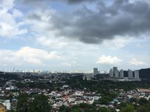 Penang Island. Top peak or hilltop to view Penang city Stock Photography