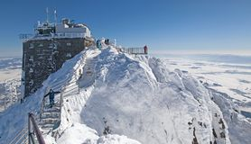 Top of the peak Lomnicky stit in High tatras mountains, Slovakia royalty free stock images