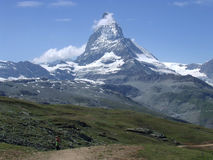 Top peak of the Matterhorn in Switzerland Royalty Free Stock Image
