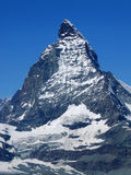Top peak of the Matterhorn in Switzerland Stock Photography