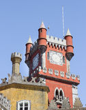 The top of Pena National Palace in Sintra, Portugal Royalty Free Stock Image