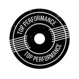 Top Performance rubber stamp. Grunge design with dust scratches. Effects can be easily removed for a clean, crisp look. Color is easily changed Royalty Free Stock Images