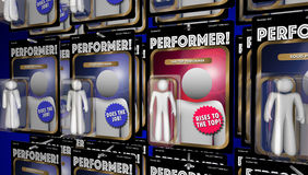Top Performer Action Figure Great Performance. 3d Illustration Royalty Free Stock Image