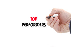 Top performers text concept Royalty Free Stock Photos