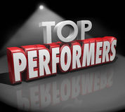 Top Performers Words Stage Recognize Best Workers Performance Stock Photo