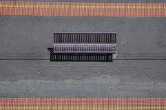 Top perspective view of a bench Royalty Free Stock Image