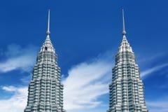 Top of petronas towers Royalty Free Stock Photo
