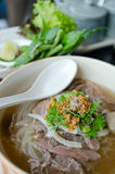 Top of Pho Lao style noodle soup Stock Images