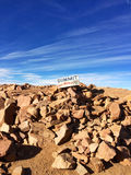 On top of Pikes Peak Stock Image