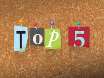 Top 5 Pinned Paper Concept Illustration Stock Images