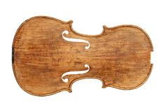Top plate of an antique violin stock photography