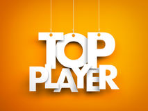 Top player. Letters on strings Stock Photos