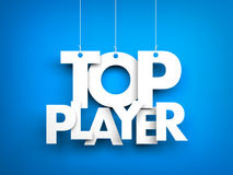 Top player. Letters on strings Royalty Free Stock Images