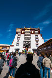The top of the potala palace Royalty Free Stock Image