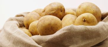 Top of potatobag Royalty Free Stock Image