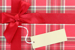 Top of present box Royalty Free Stock Images