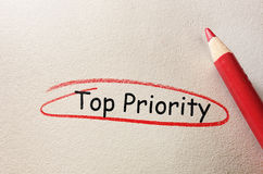 Top Priority circle Stock Photos