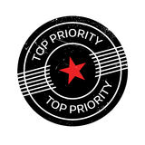 Top Priority rubber stamp. Grunge design with dust scratches. Effects can be easily removed for a clean, crisp look. Color is easily changed Stock Photos