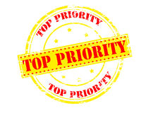 Top priority. Rubber stamp with text top priority inside,  illustration Royalty Free Stock Photos