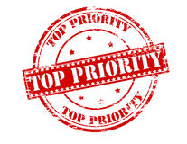Top priority. Rubber stamp with text top priority inside,  illustration Royalty Free Stock Image
