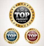 Top Product Gold Badges Royalty Free Stock Images
