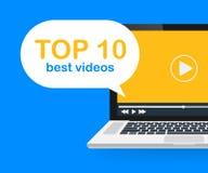 top 10 Prosta Najlepszy Wideo sztandar etykietka Klika przez tempa, rywalizacja medialny producenta pojęcie również zwrócić corel royalty ilustracja