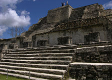 On a Top of a Pyramid. On a top of Mayan pyramid in Althun-Ha, Belize Stock Images