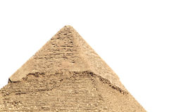 Top of the pyramid. Top of the great pyramid in Giza isolated on white background Stock Photos