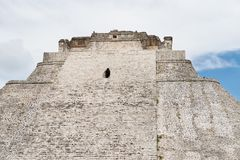 The top of pyramid of fortune teller, Uxmal, Ruins royalty free stock photos