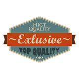 Top quality blue vintage banner Royalty Free Stock Image