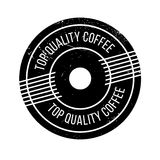 Top Quality Coffee rubber stamp. Grunge design with dust scratches. Effects can be easily removed for a clean, crisp look. Color is easily changed Royalty Free Stock Image