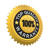 Top Quality Guaranteed Label Isolated. On white background. 3D render Stock Images