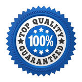 Top Quality Guaranteed Label Isolated. On white background. 3D render Royalty Free Stock Photos