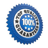 Top Quality Guaranteed Label Isolated. On white background. 3D render Stock Photo
