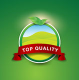 Top quality nature product label Royalty Free Stock Photo