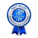 Top quality. 100% Satisfaction guaranteed. Best seller - elegant blue business hanging ribbon Vector Illustration